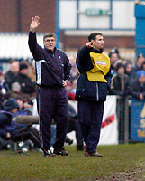 Photo: Leigh Quinnell.<br /> Nuneaton Borough v Middlesbrough. The FA Cup.<br /> 07/01/2006. Nuneaton manager Roger Ashby(left) on the touch line