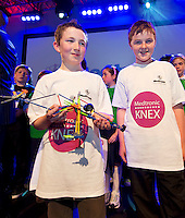 Cormac Walsh and Alan O Toole from St Annin's School Roscahill who soon the Medtronic Knex Challenge Cormac Walsh and Alan O Toole at the Radisson blu Hotel.  Medtronic KNEX Challenge is for  primary school children completing  exceptional tasks which will be judged on the level of engineering, innovation and communication displayed by the teams.. .The final event of the week is the Medtronic  Junior FIRST LEGO League challenge on THURSDAY. This is the second year The Galway Education Centre has hosted this competition - one of only six countries in the world who do so. Following the success of last year, over 500 school children from all over the country are expected to come along and practice their robotics, presentation and teamwork skills live on the night!. .Bernard Kirk, Director of The Galway Education Centre says; ?Working on this three day event every year is fun and exciting and always surprising. The talent, instinct and drive we discover in these young children is an inspiration to all of us. We look forward to the continued success of all of our challenges which would not be possible without the support of companies like Medtronic, SAP, HP and LEGO?.. .All of these events are open to the public and free admission. They will also be streamed live on line at www.galwayeducationcentre.ie. Photo:Andrew Downes.