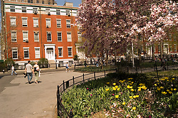 New York City, New York: People enjoying spring sunshine in Washington Square in Greenwich Village  .Photo #: ny314-15159  .Photo copyright Lee Foster, www.fostertravel.com, lee@fostertravel.com, 510-549-2202.