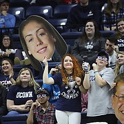 UConn Huskies fans with cardboard cut outs of Breanna Stewart and Head Coach Geno Auriemma during the UConn Vs SMU Women's College Basketball game at Gampel Pavilion, Storrs, Conn. 24th February 2016. Photo Tim Clayton