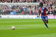 Crystal Palace's Pape N'Diaye Souaré on the ball during the The FA Cup match between Crystal Palace and Watford at Wembley Stadium, London, England on 24 April 2016. Photo by Shane Healey.