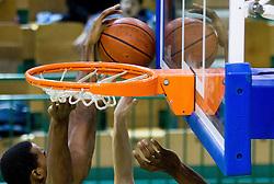 Ball during basketball match between KK Krka Novo mesto and Pinar Karsiyaka (TUR) in 5th Round of EuroChallenge 2013 on December 4, 2012 in Arena Leon Stukelj, Novo mesto, Slovenia. Krka defeated Pinar Karsiyaka 80-74. (Photo By Vid Ponikvar / Sportida)