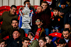 Doncaster Rovers fans with Tin Foil FA Cups - Mandatory by-line: Robbie Stephenson/JMP - 17/02/2019 - FOOTBALL - The Keepmoat Stadium - Doncaster, England - Doncaster Rovers v Crystal Palace - Emirates FA Cup fifth round proper