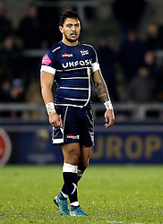 Denny Solomona of Sale Sharks during his debut after his controversial move and switching of codes from Castleford Tigers - Mandatory by-line: Robbie Stephenson/JMP - 18/12/2016 - RUGBY - AJ Bell Stadium - Sale, England - Sale Sharks v Saracens - European Champions Cup