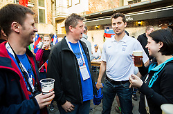 Marcel Rodman of Slovenia of Slovenian Ice Hockey National Team at meeting with their supporters at day off during 2015 IIHF World Championship, on May 9, 2015 in Restaurant Zadni Vratka, Stodolni Street, Ostrava, Czech Republic. Photo by Vid Ponikvar / Sportida