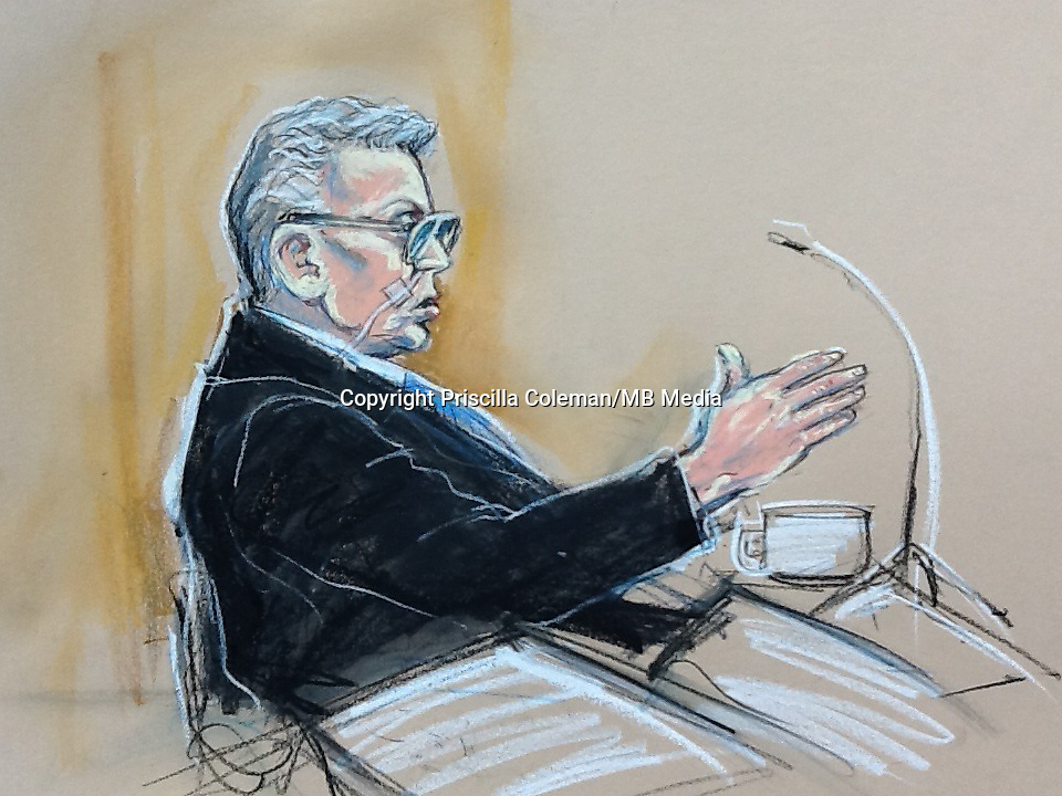 Ian Brady appears on the videolink from Ashworth Hospital in Merseyside beamed into a court room at the Manchester Mental Health Tribunal held from the 17th-25th of June, 2013.<br />