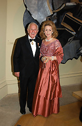 LORD & LADY WOLFSON OF MARYLEBONE at the Royal Academy dinner before the official opening of the Summer Exhibition held at the Royal Academy of Art, Burlington House, Piccadilly, London W1 on 1st June 2005.<br />