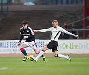 Inverness&rsquo; Henri Anier and Dundee&rsquo;s Daniel Higgins - Dundee v Inverness Caledonian Thistle in the Ladbrokes Scottish Premiership at Dens Park, Dundee, Photo: David Young<br /> <br />  - &copy; David Young - www.davidyoungphoto.co.uk - email: davidyoungphoto@gmail.com
