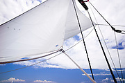 Sailing onboard Marie during the Windward Race at the 2011 Antigua Classic Yacht Regatta.