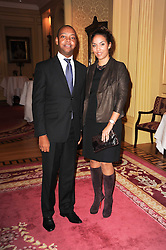 PAUL PEARSON and PRINCESS ALIA AL SENUSSI OF LIBYA at a reception hosted by Films Without Borders at the Lanesborough Hotel, Hyde Park Corner, London on 27th October 2010.