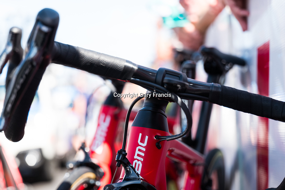 BMC Racing Team bike at the start of Stage 5, McLaren Vale to Willunga, of the Tour Down Under, Australia on the 20 of January 2018 ( Credit Image: © Gary Francis / ZUMA WIRE SERVICE )