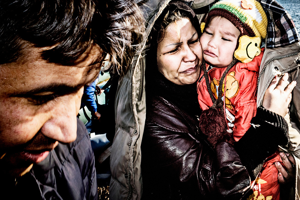 They all have their own reason to come here.<br /> Everyone has a different story to tell. One more terrible than the other.<br /> Syrians, Afghans, Somalis, Pakistanis, old, young, men, women and children.<br /> Everyone is searching for a better life without fear and death. Shivering, scared, happy, soaked, crying. Everyone reacts differently when they hit Lesvos coastline in the much too small and overcrowded dingy. Safe ground for a while.