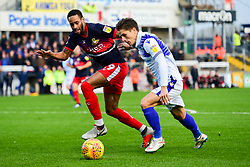 Tom Nichols of Bristol Rovers is challenged by Shaun Cummings of Doncaster Rovers - Mandatory by-line: Ryan Hiscott/JMP - 08/12/2018 - FOOTBALL - Memorial Stadium - Bristol, England - Bristol Rovers v Doncaster Rovers - Sky Bet League One