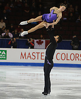 FOUR CONTINENTS FIGURE SKATING CHAMPIONSHIPS, VANCOUVER, BRITISH COLUMBIA, CANADA - FEBRUARY 5th 2009 - Pairs Free Skating, Yming Wu and Huibo Dong (CHI): Photo by Peter Llewellyn