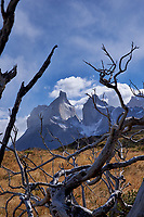 Mountains, Sky, and Clouds in Torres del Paine National Park. Image taken with a Fuji X-T1 camera and Zeiss 32 mm f/1.8 lens.