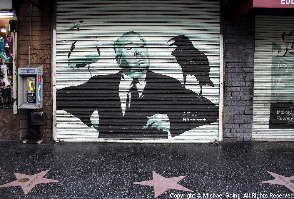 Alfred Hitchcock mural