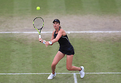 File photo dated 17-06-2018 of Johanna Konta during her WTA Singles Final match with Ashleigh Barty during day seven of the Nature Valley Open at Nottingham Tennis Centre.