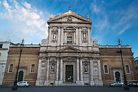 First Light on Church of Saint Susanna at the Baths of Diocletian, Roma, Italy