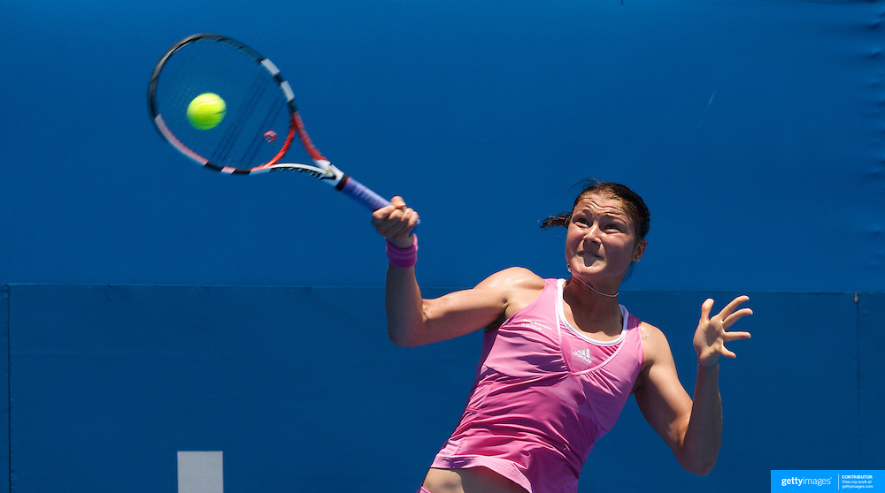 Dinara Safina of Russia on her way to victory over Vera Dushevina of Russia in the second round of the Medibank International Sydney Tennis Tournament on January 13, 2009 in Sydney, Australia. Photo Tim Clayton