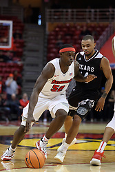 07 January 2018:  Milik Yarbrough defended by Alize Johnson during a College mens basketball game between the Missouri State Bears and Illinois State Redbirds in Redbird Arena, Normal IL