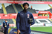 Tyler Blackett (24) of Reading arriving at the Liberty Stadium before the EFL Sky Bet Championship match between Swansea City and Reading at the Liberty Stadium, Swansea, Wales on 27 October 2018.
