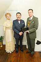 Liza Goddard, Robert Powell, Robin McCallum, Agatha Christie: Black Coffee - Photocall, 22 Cresswell Place, London UK (Former home of Agatha Christie), 10 January 2014, Photo by Raimondas Kazenas