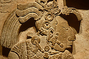 MEXICO, MEXICO CITY MUSEUM Mayan ruler of Yaxchilan, relief