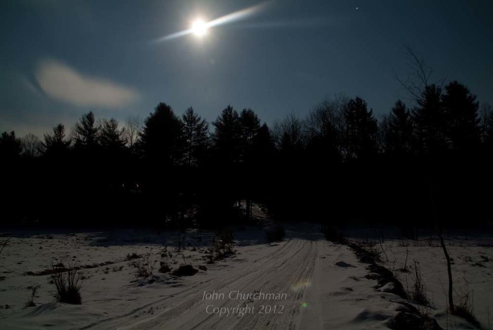 bright winter moon shine