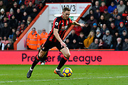 Dan Gosling (4) of AFC Bournemouth on the attack during the Premier League match between Bournemouth and Tottenham Hotspur at the Vitality Stadium, Bournemouth, England on 11 March 2018. Picture by Graham Hunt.