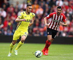 Tottenham Hotspur's Nabil Bentaleb dribbles with the ball - Photo mandatory by-line: Robbie Stephenson/JMP - Mobile: 07966 386802 - 25/04/2015 - SPORT - Football - Southampton - ST Marys Stadium - Southampton v Tottenham Hotspur - Barclays Premier League