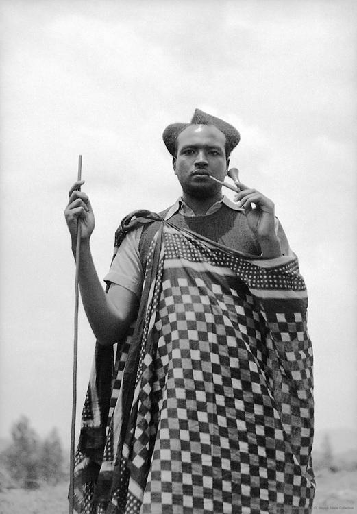 Watussi Man and Children, Nyanza, Ruanda-Urundi (now Rwanda and Burundi), Africa, 1937