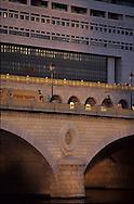 France. Paris. Seine river bridges. ministry of Finance on the Seine river