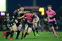 Sam Simmonds of Exeter Chiefs makes a break - Mandatory by-line: Alex Davidson/JMP - 13/01/2018 - RUGBY - Sandy Park Stadium - Exeter, England - Exeter Chiefs v Montpellier - European Rugby Champions Cup