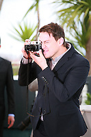 Channing Tatum photographs the photographers at the photo call for the film Foxcatcher at the 67th Cannes Film Festival, Monday 19th May 2014, Cannes, France.