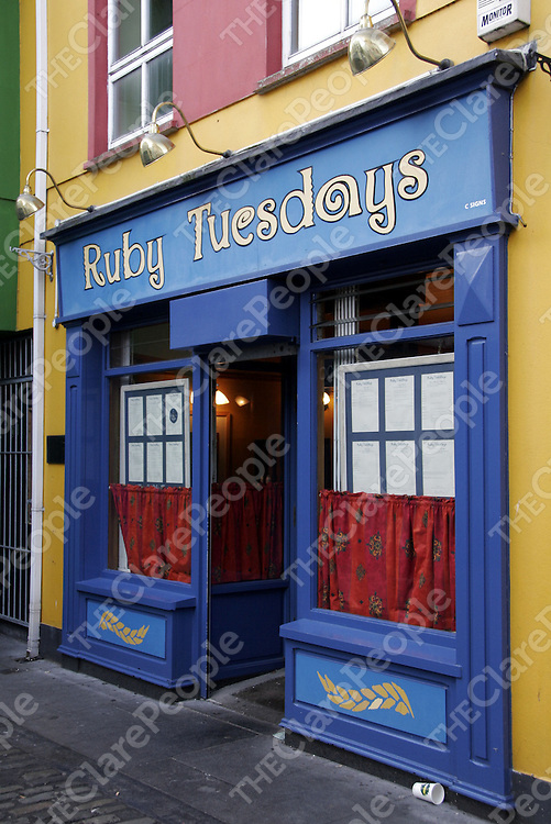 Ruby Tuesdays.<br /> <br /> Photograph by Yvonne Vaughan.