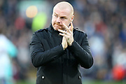 Burnley Manager Sean Dyche during the Premier League match between Burnley and Chelsea at Turf Moor, Burnley, England on 26 October 2019.