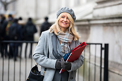 © Licensed to London News Pictures. 09/01/2018. London, UK. Work and Pensions Secretary Esther McVey  walking through Whitehall to attend a Cabinet meeting in Downing Street this morning. Yesterday British Prime Minister Theresa May reshuffled her cabinet, appointing some new ministers. Photo credit : Tom Nicholson/LNP