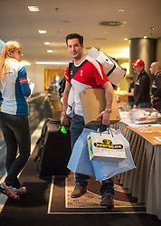 28.01.2014,  Marriott, Wien, AUT, Sochi 2014, Einkleidung OeOC, im Bild Daniel Welser (Eishockey, AUT) // Daniel Welser (Icehockey, AUT) during the outfitting of the Austrian National Olympic Committee for Sochi 2014 at the  Marriott in Vienna, Austria on 2014/01/28. EXPA Pictures © 2014, PhotoCredit: EXPA/ JFK