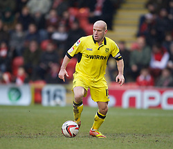 LONDON, ENGLAND - Saturday, February 9, 2013: Tranmere Rovers' captain Andy Robinson in action against Leyton Orient during the Football League One match at Brisbane Road. (Pic by David Rawcliffe/Propaganda)