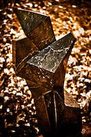 Zimsculpt at Van Dusen Botanical Garden: Cubic - opal stone sculpture by Onward Sango (original sculpture available at www.zimsculpt.com)
