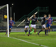 30th January 2018, Tulloch Caledonian Stadium, Inverness, Scotland; Scottish Cup 4th round replay, Inverness Caledonian Thistle versus Dundee; Dundee's Sofien Moussa misses a great chance