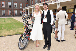 Meredith Ostrom and Philip Colbert at the Concours d'éléphant in aid of Elephant Family held at the Royal Hospital Chelsea, London, England. 28 June 2018.