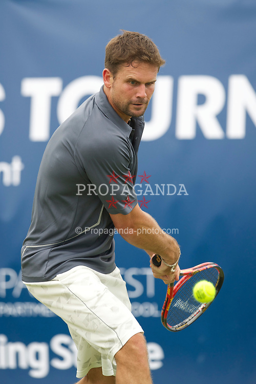 LIVERPOOL, ENGLAND - Friday, June 17, 2011: Jan-Michael Gambill (USA) in action during day two of the Liverpool International Tennis Tournament at Calderstones Park. (Pic by David Rawcliffe/Propaganda)