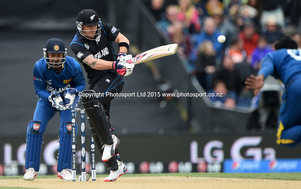 Brendon McCullum batting during the ICC Cricket World Cup match between New Zealand and Sri Lanka at Hagley Oval in Christchurch, New Zealand. Saturday 14 February 2015. Copyright Photo: Andrew Cornaga / www.Photosport.co.nz