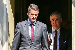 April 30, 2019 - London, UK, United Kingdom - Gavin Williamson - Secretary of State for Defence (L) and Geoffrey Cox - Attorney General (R) are seen departing from No 10 Downing Street after attending the weekly Cabinet Meeting. (Credit Image: © Dinendra Haria/SOPA Images via ZUMA Wire)