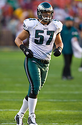 Philadelphia Eagles linebacker Chris Gocong (57).  The Washington Redskins defeated the Philadelphia Eagles 10-3 in an NFL football game held at Fedex Field in Landover, Maryland on Sunday, December 21, 2008.