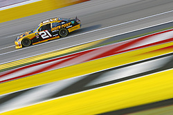 March 2, 2018 - Las Vegas, Nevada, United States of America - March 02, 2018 - Las Vegas, Nevada, USA: Daniel Hemric (21) brings his race car down the front stretch during practice for the Boyd Gaming 300 at Las Vegas Motor Speedway in Las Vegas, Nevada. (Credit Image: © Chris Owens Asp Inc/ASP via ZUMA Wire)