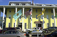 The newly renovated Congress Hall is shown, Sunday, August 11, 2002, in Cape May, New Jersey. The hotel recently underwent a two-year eighteen-million-dollar renovation, and re-opened in June 2002. (Photo by William Thomas Cain/photodx.com)