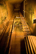 Escape hatch to the surface, German Underground Military hospital, Guernsey, Channel Islands, UK