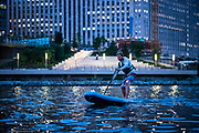 Jack Haworth paddling rivers near Chicago, Illinois.